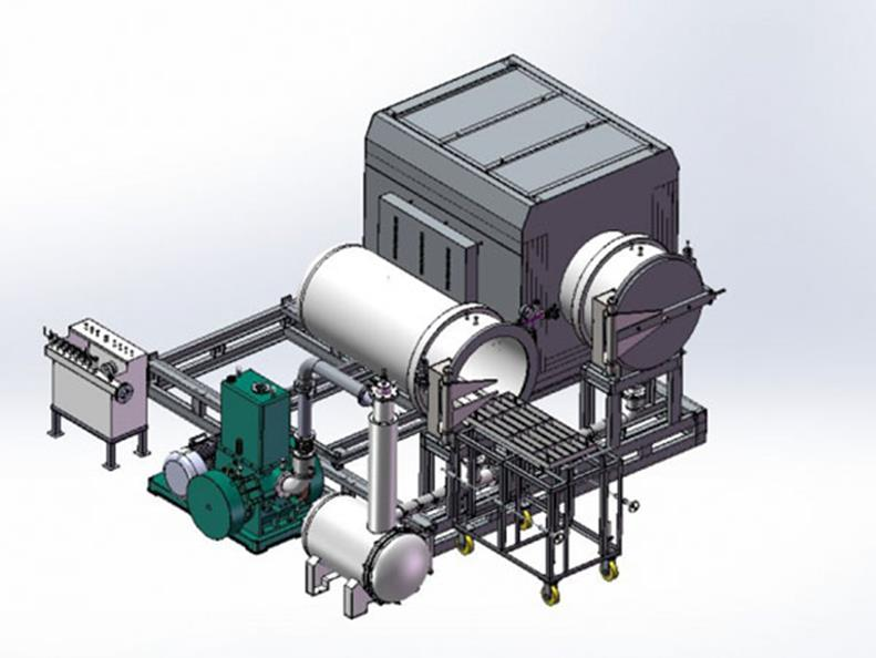 Высокотемпературная индукционная плавильная печь